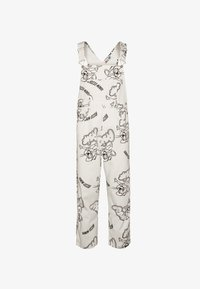 RIZZO MOUSE DUNGAREE UNISEX - Hängselbyxor - white