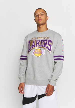 NBA LOS ANGELES LAKERS ALL OVER PRINT CREW - Club wear - grey heather