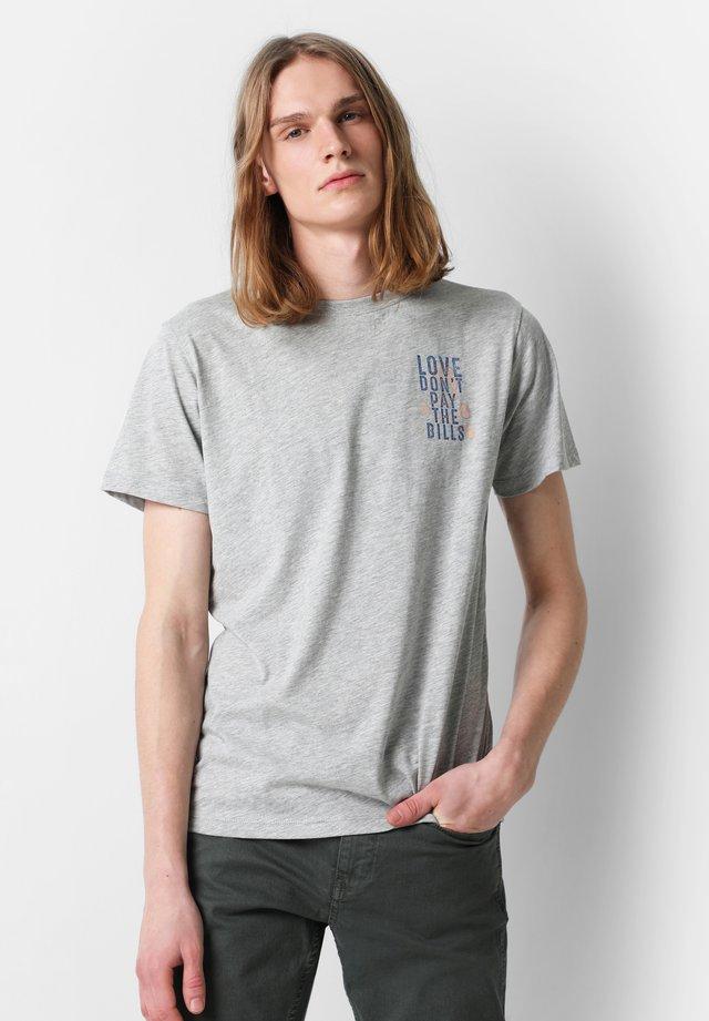 LOVE  - T-shirt med print - grey melange