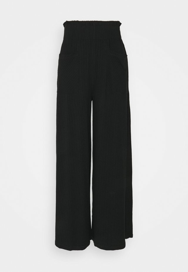 BLISSED OUT WIDE LEG - Träningsbyxor - black