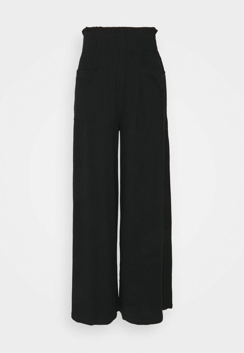 Free People - BLISSED OUT WIDE LEG - Tracksuit bottoms - black
