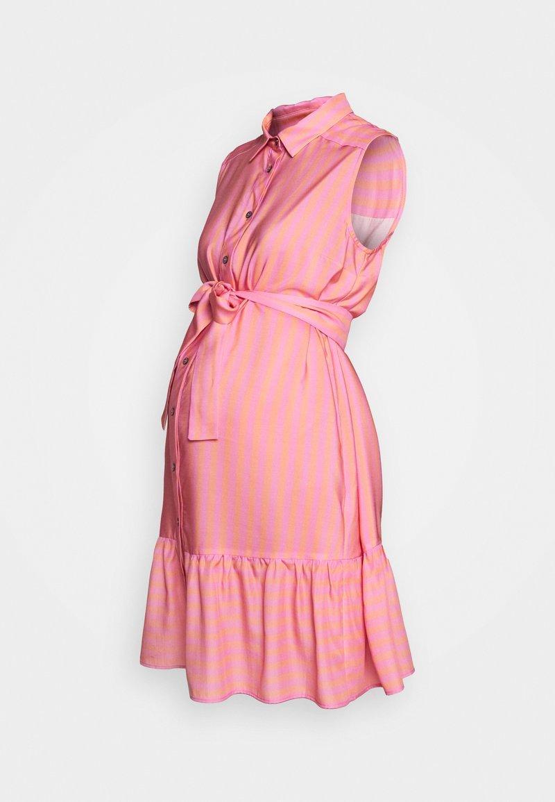 Pietro Brunelli - CAROLINA - Košilové šaty - coral orange