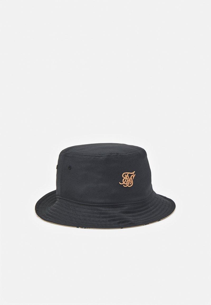 SIKSILK - BUCKET HAT UNISEX - Čepice - black/ecru