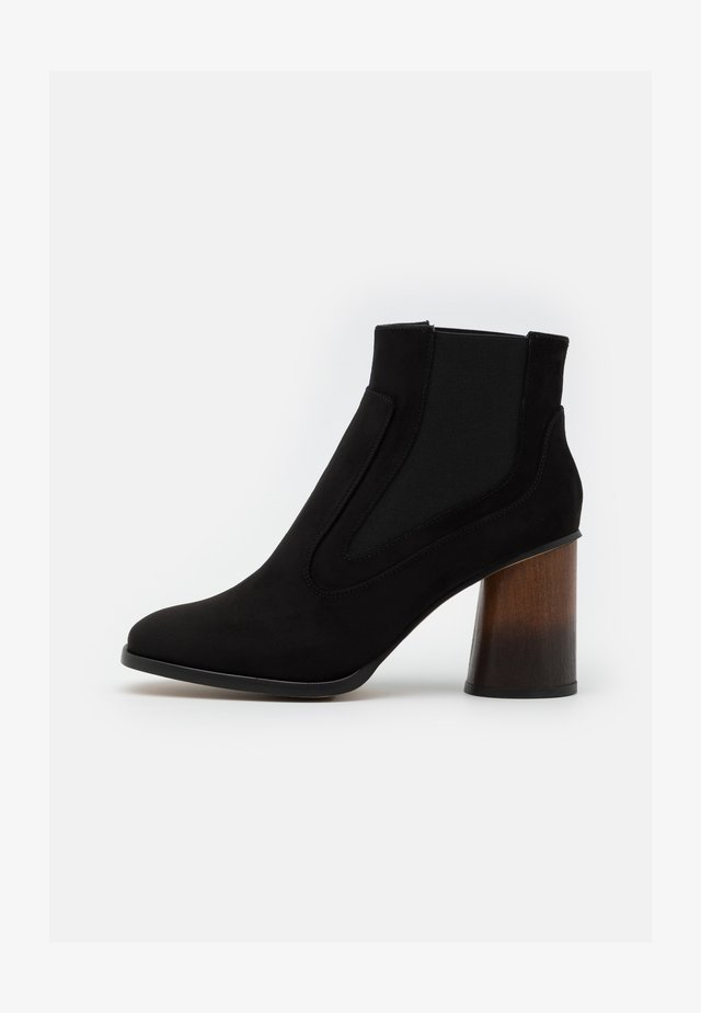 VEGAN ELISABET - High heeled ankle boots - black