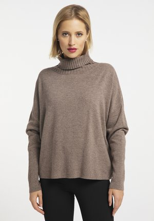 Pullover - hellbraun melange
