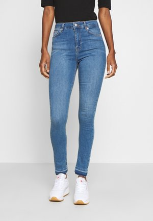 HIGH WAIST OPEN - Jeans Skinny Fit - mid blue
