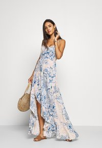 Free People - FOREVER YOURS SMOCKD SLIP - Maxi dress - blue
