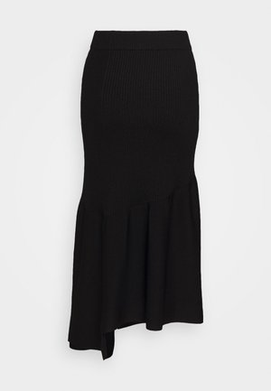 A LINE SKIRT PEPLUM HEM - Pencil skirt - black