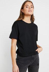 Even&Odd - 2 PACK - Basic T-shirt - white/black - 4