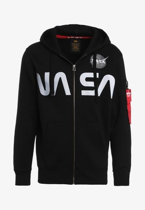 NASA ZIP HOODY - Felpa aperta - black