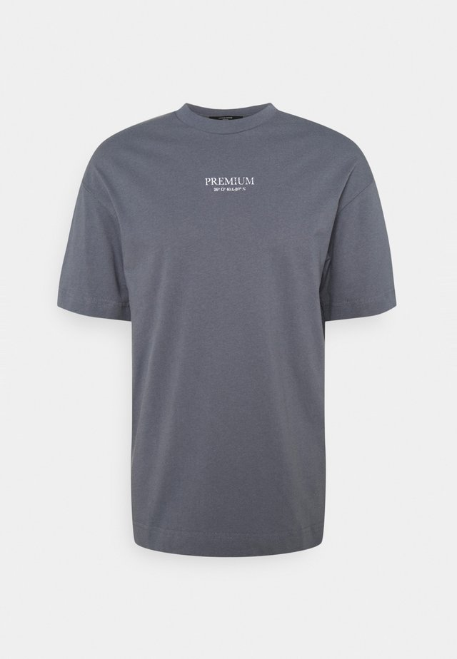 JPRBLAGEO BOX FIT TEE - T-shirts med print - atlantic blue