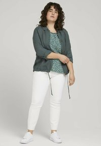 MY TRUE ME TOM TAILOR - Blouse - mint flowers and dots - 1