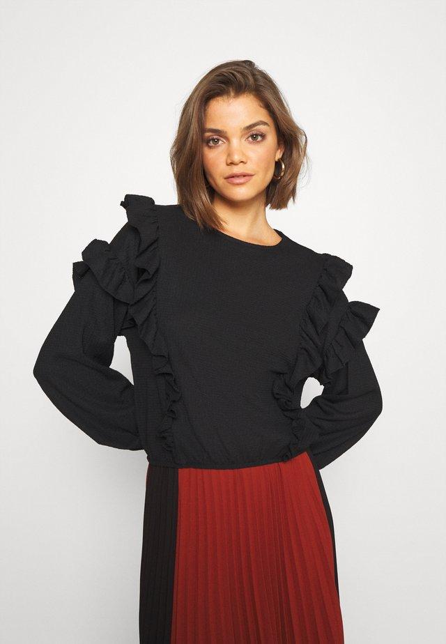 RINDA BLOUSE - Camicetta - solid black