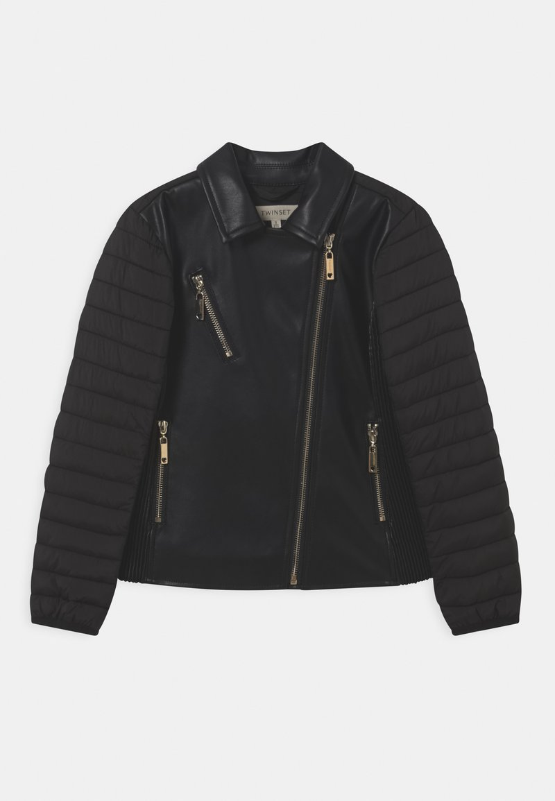 TWINSET - CHIODO - Faux leather jacket - nero