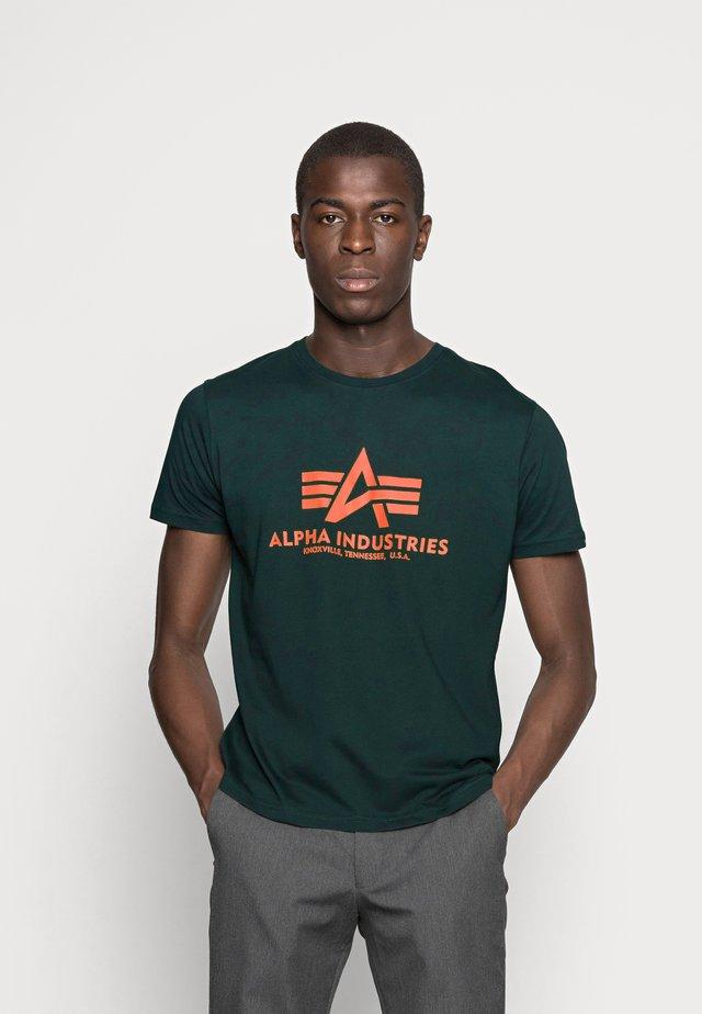 RAINBOW  - Print T-shirt - petrol
