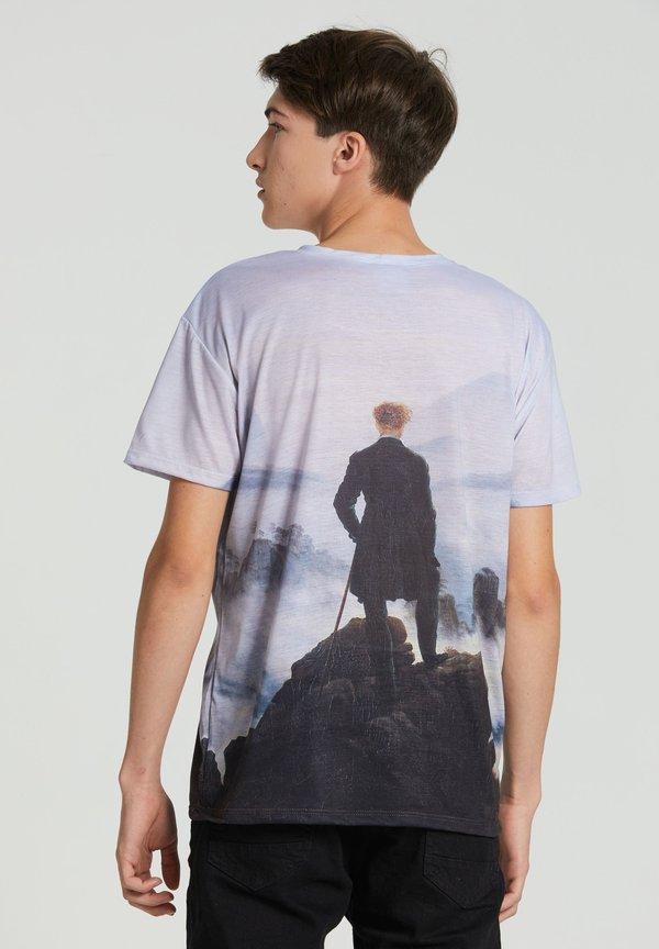 Mr. GUGU & Miss GO WANDERER ABOVE THE SEA OF FOG - T-shirt z nadrukiem - blue/niebieski Odzież Męska NWEO