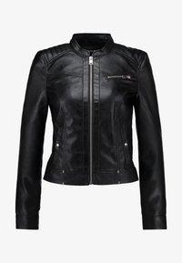 Vero Moda - VMSHEENA SHORT JACKET - Imiteret læderjakke - black - 4
