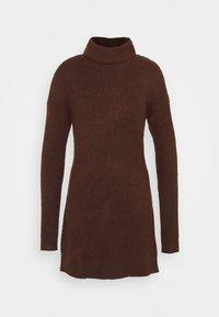 TEXTURAL CREW DRESS - Jumper dress - deep maghony