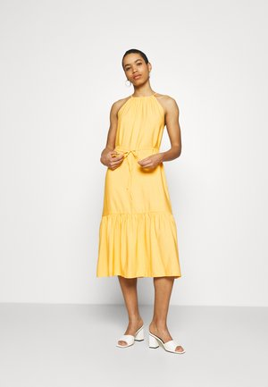 HALTER MIDI - Cocktail dress / Party dress - banana peel