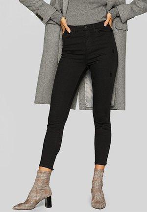 MIT SUPERHOHEM BUND  - Skinny džíny - black