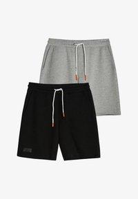 Bershka - 2 PACK - Shorts - black - 3