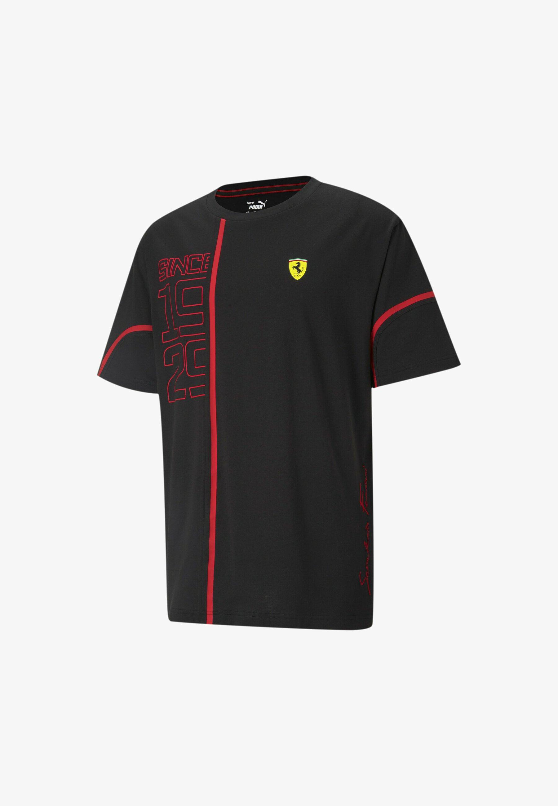 Puma Ferrari T Shirt Print Puma Black Schwarz Zalando De