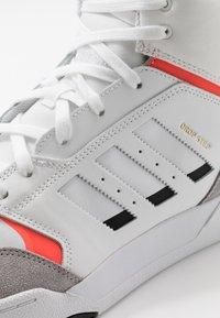 adidas Originals - DROP STEP - Sneakersy wysokie - footwear white/granit/solar red - 5