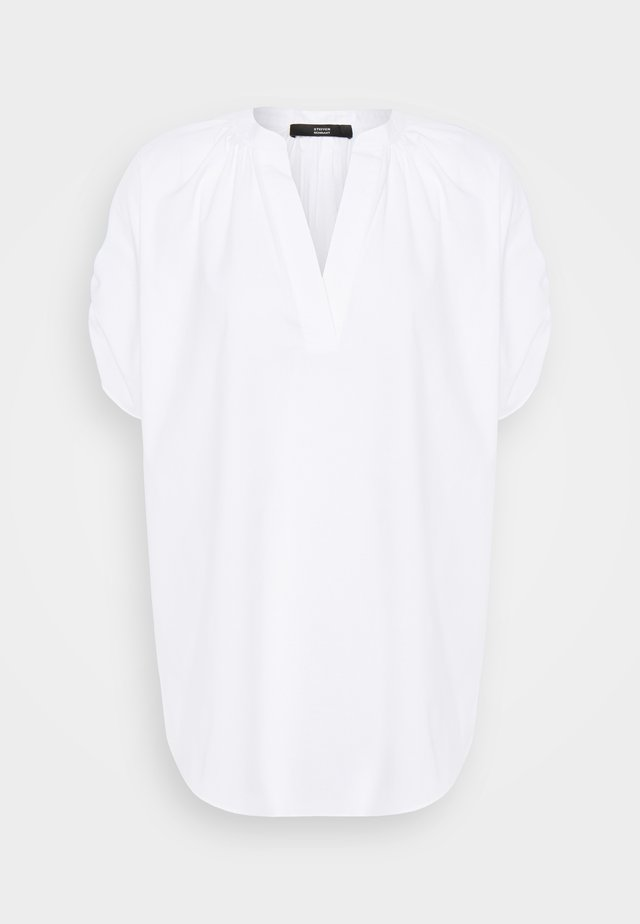 SMOKED SLEEVE BLOUSE - Bluse - white