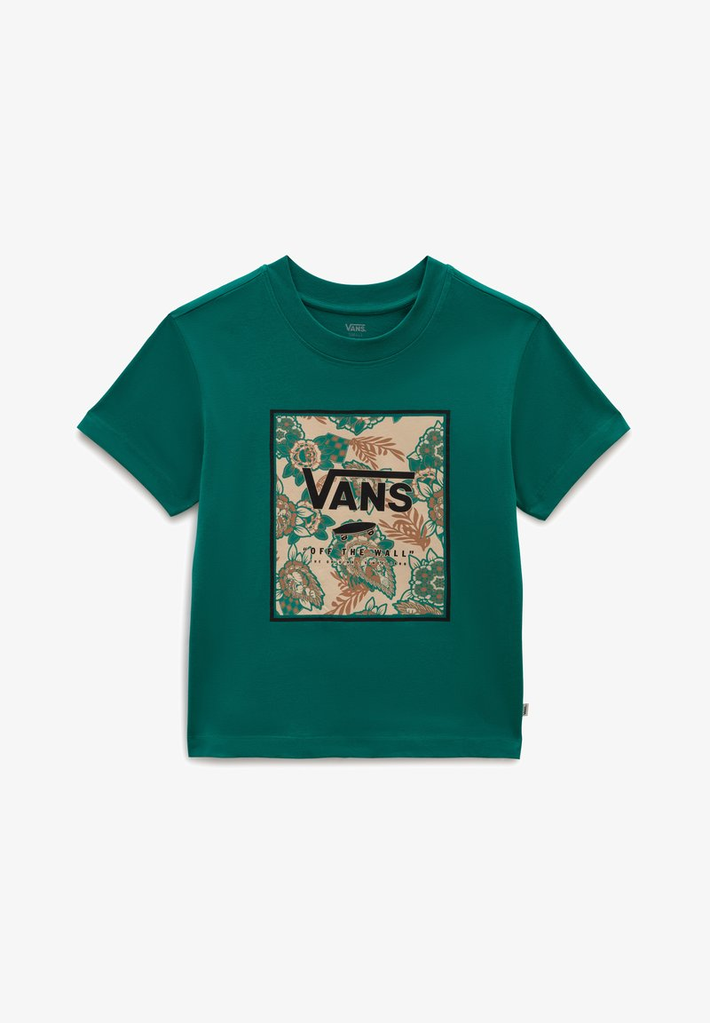 Vans - WM MONTAUK PRINT BOX BOXY SS - Print T-shirt - alpine green