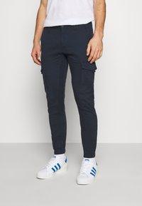 Jack & Jones - JJIPAUL JJFLAKE  - Cargo trousers - navy blazer - 0