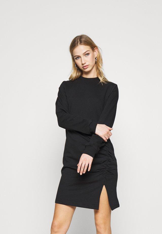 SLIT DRESS - Freizeitkleid - black