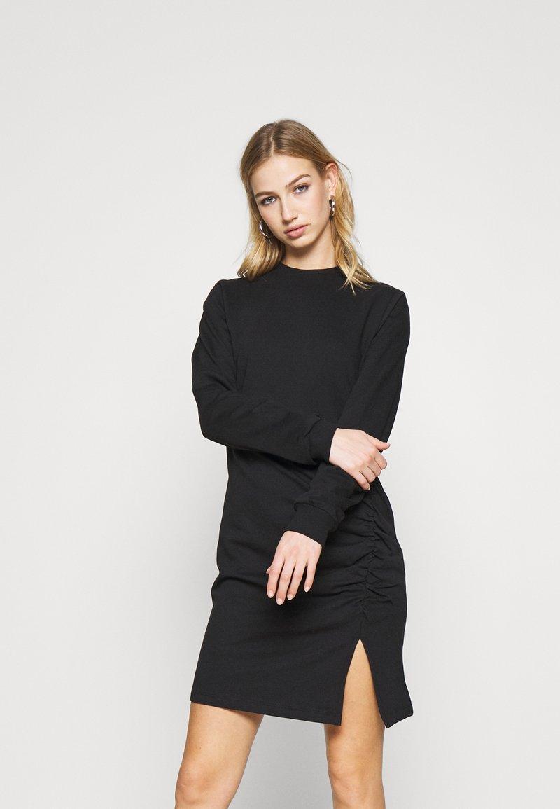 Nly by Nelly - SLIT DRESS - Day dress - black