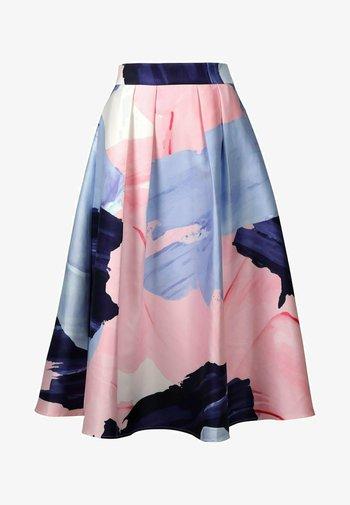 A-line skirt - nachtblau-multicolor