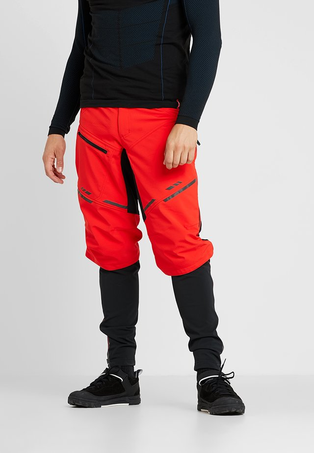 MENS PANTS  - Pantalones montañeros largos - mars red