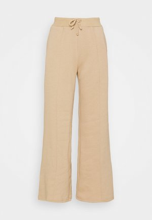 WIDE LEG JOGGERS WITH PINTUCK - Verryttelyhousut - beige