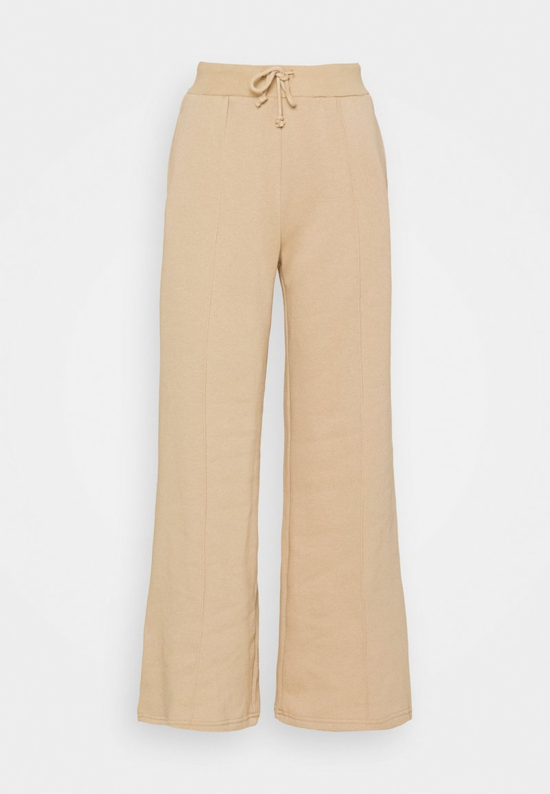 Even&Odd - WIDE LEG JOGGERS WITH PINTUCK - Tracksuit bottoms - beige