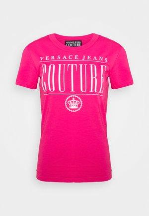 Print T-shirt - fuxia