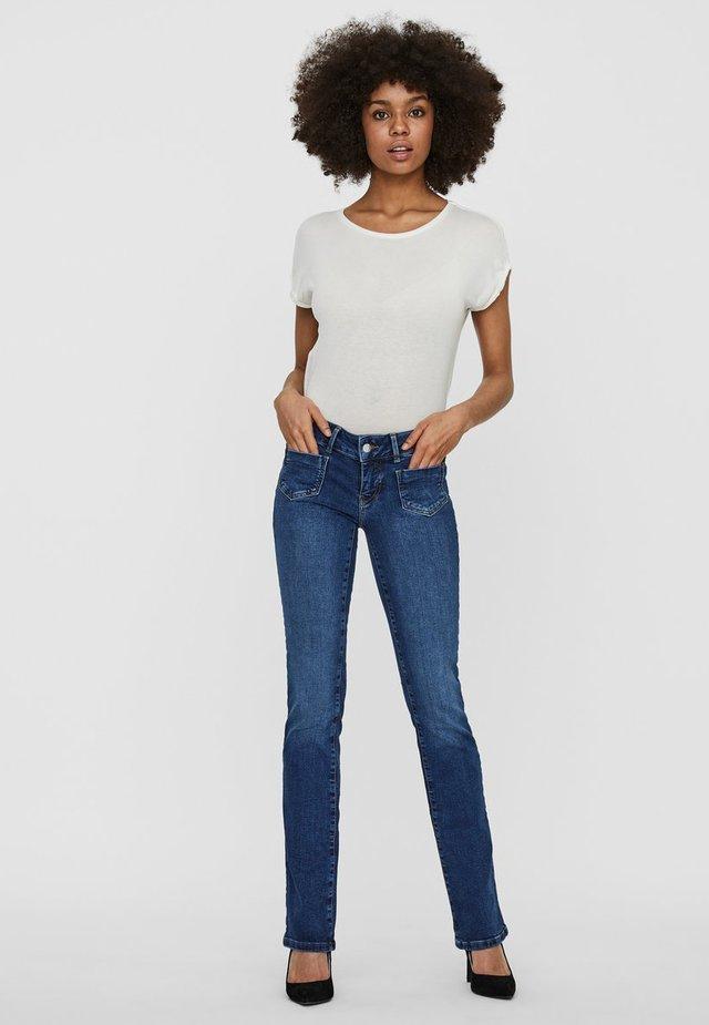 VMDINA - Jeans Slim Fit - dark blue denim