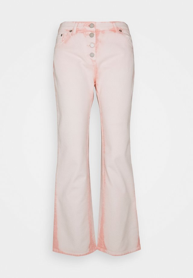 TROUSERS - Bootcut jeans - pink