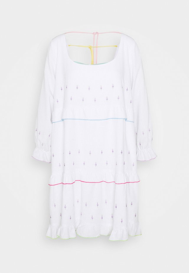 ODELIA DRESS - Korte jurk - white