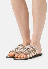 River Island - T-bar sandals - rose gold - 0