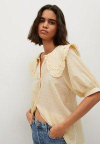 Mango - Button-down blouse - geel - 0