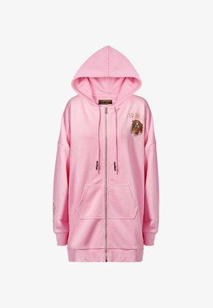 BIG ROAR OVERSIZE ZIP HOODY - Zip-up hoodie - pink