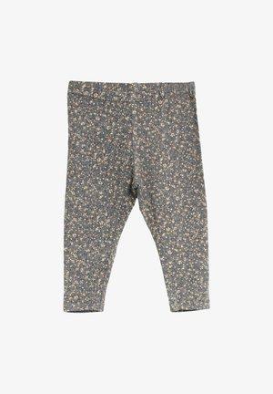 Leggings - Trousers - greyblue flowers
