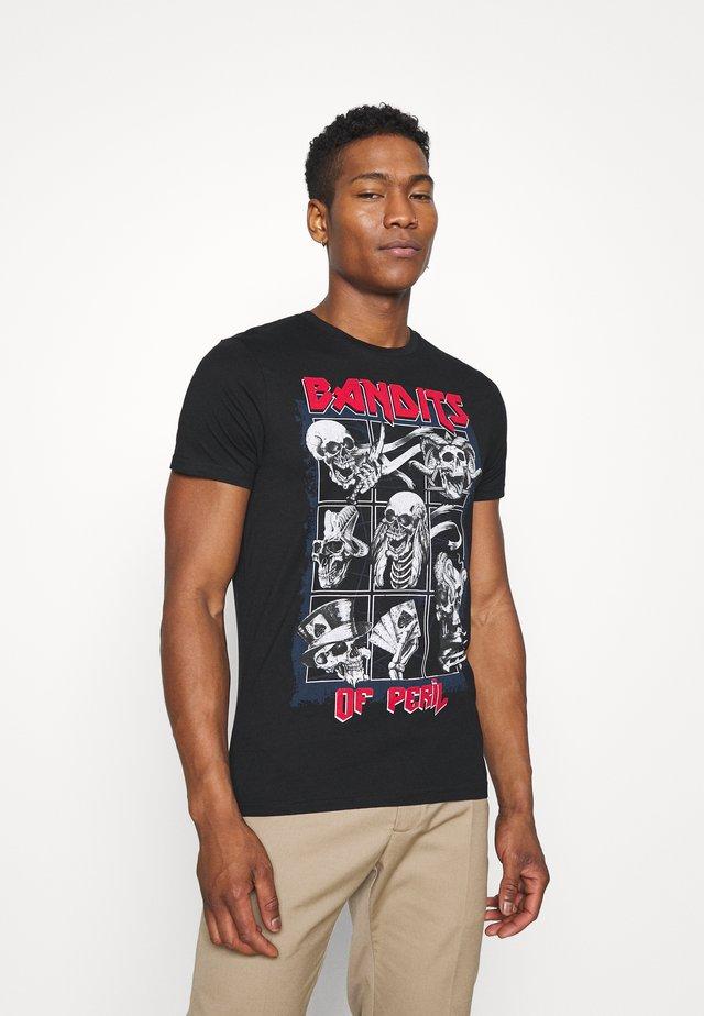 BANDIT - T-shirt imprimé - dark charcoal