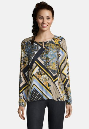Blouse - camel/dark blue