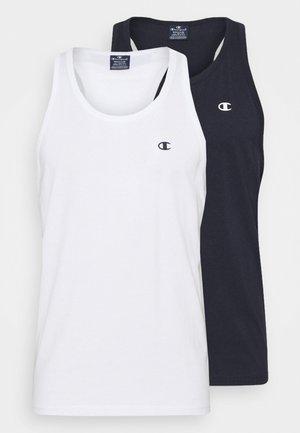 2 PACK - Top - white/dark blue