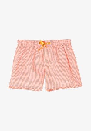 Swimming shorts - papaya orange/bianco