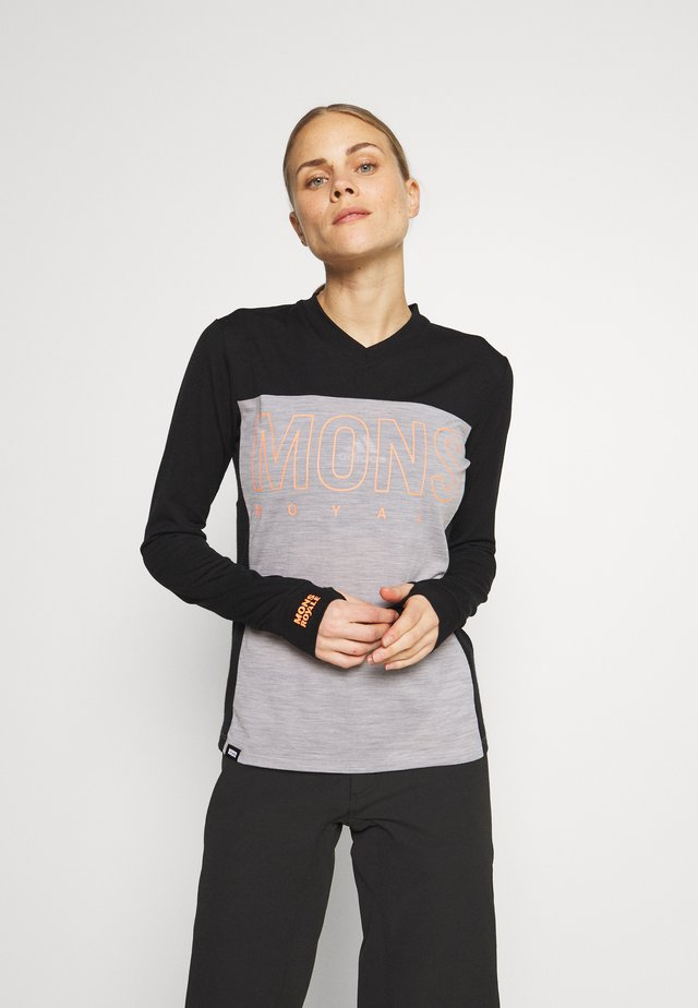 PHOENIX ENDURO - Sports shirt - black/grey marl