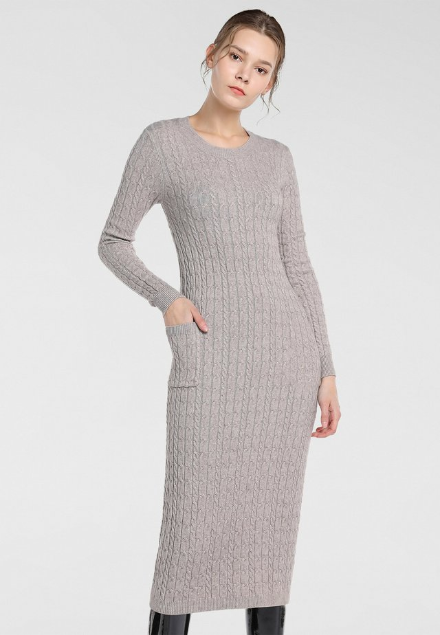 Shift dress - taupe